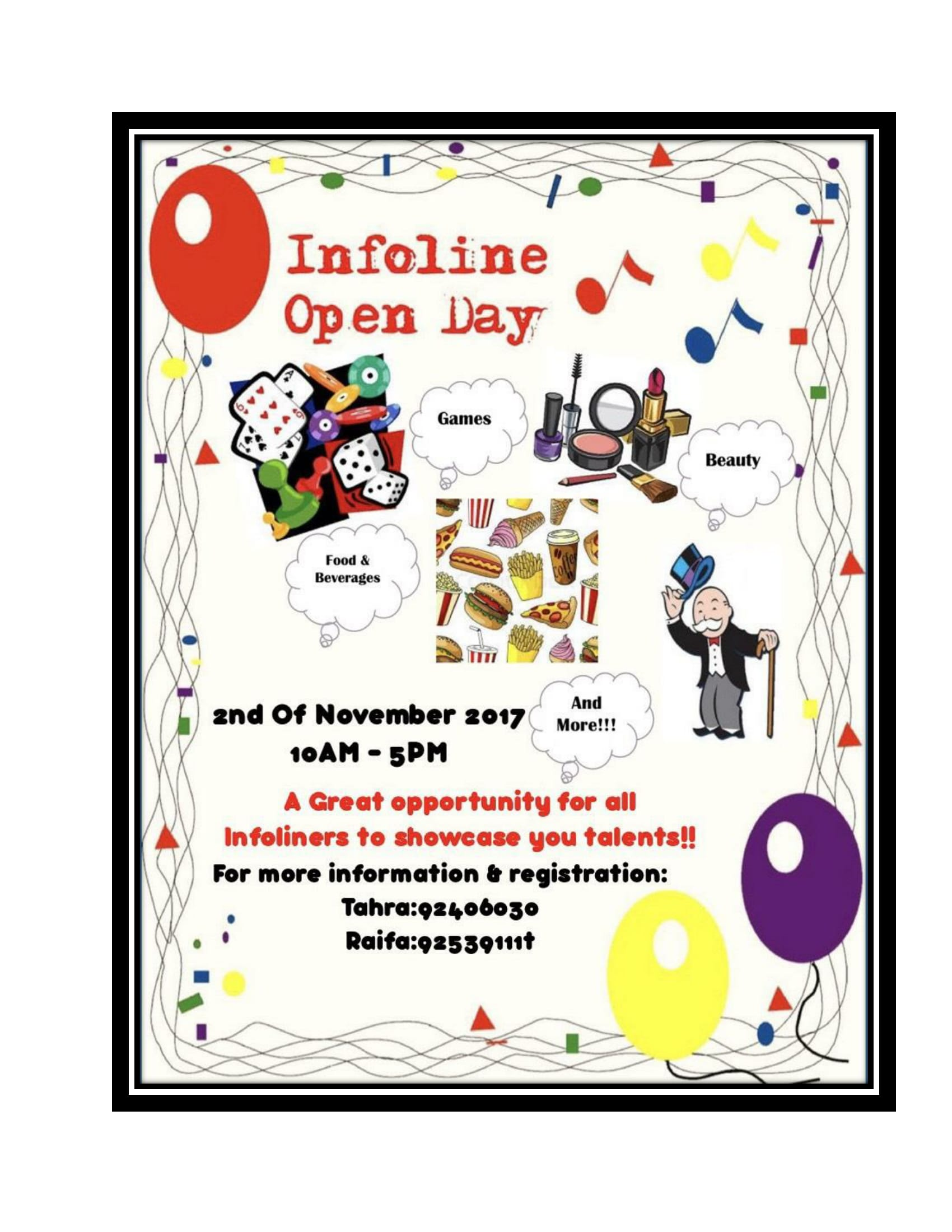 Infoline organises Open Day